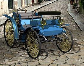 Peugeot Type 5 1894 vintage car 3D