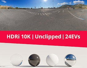 HDRi - Parking Mountains and Sun 3D