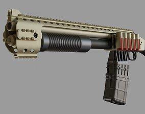Hi-Poly Mossberg 590 Shockwave 3D