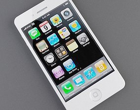 3D Iphone 4G White