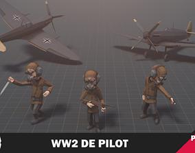 3D asset WW2 DE Pilot