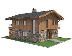 3D Chalet House 7