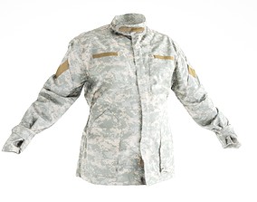 Military jacket of Army Combat Uniform 18 3D asset