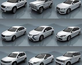 10 - City cars models E low-poly