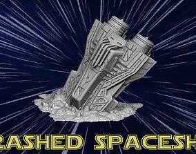 3D print model Crashed spaceship