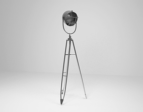 Industrial Style Metal floor lamp 3D model