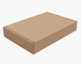 3D Corrugated cardboard box packaging 03