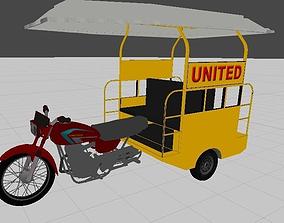 3D asset United Chingchi Rickshaw Model Low Poly