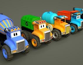Car toy humanization - cartoon 3D asset