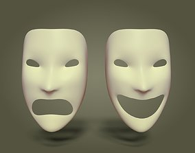 Simple Theater Mask 3D model