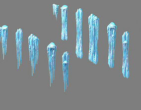 3D Ice Cone - icicle 61