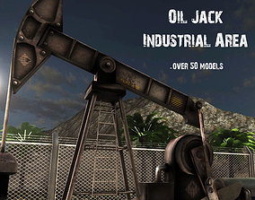 3D model OilJack Industrial Area