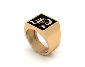 Old English Letter Ring N 3D printable model