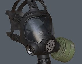 Gas mask 3D model low-poly