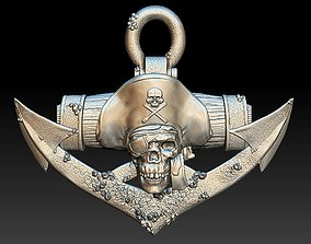 Pirate Skull 2 - relief - 2020 3D printable model