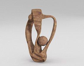 3D PBR Wood Sculpture