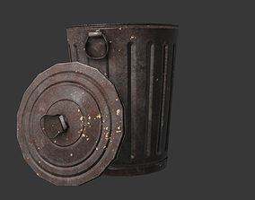 Trash Can 3D asset VR / AR ready PBR