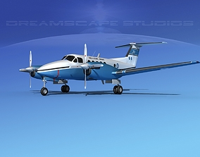 Beechcraft UC-12Q Huron HAF 3D model