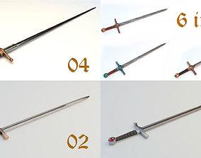 3D model 6 swords