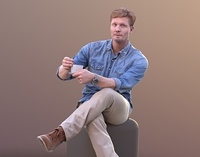 Andrew 10394 - Sitting Casual Man 3D model