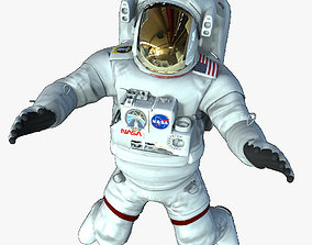 3D model low-poly Rigged Astronaut