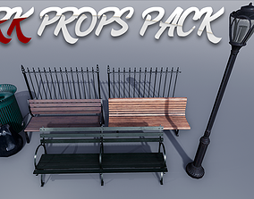 3D asset Park Props Pack - UE4 Game Ready