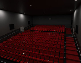 Cinema - Low Poly 3D asset