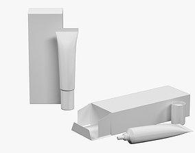 3D model Tube 15ml and Box