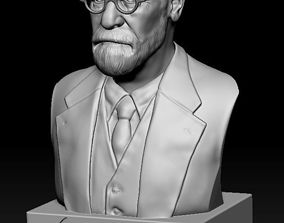 3D print model Sigmund Freud - Bust portrait freud