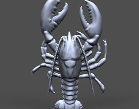 Crayfish bas relief for CNC 3D printable model