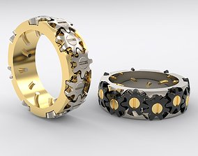 3D print model Mechanism ring For MEN with Gears