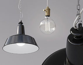 3D Industrial Pendant Lamp