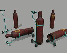 Propane Tank handcart 3D model VR / AR ready