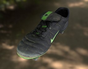 Soccer shoe low poly 3D model game-ready