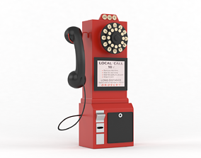 3D Classic Pay Phone Telephone