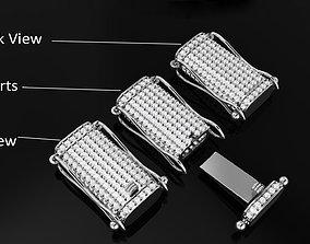 Rectangular Bracelet Diamond Lock Box for 3D print model 2