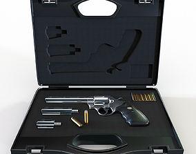 3D Gun case with a revolver Colt Python 357