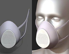 Gas mask respirator military combat protection 3D asset