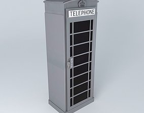 3D Dressing gray phonebox houses the world