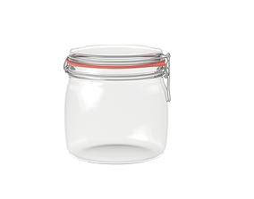 3D model Glass clip lock jar