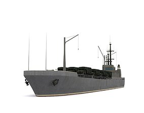 transport ship 3D asset