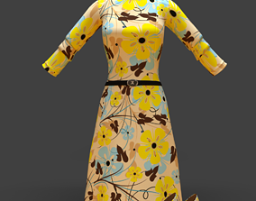 3D asset dress with shoes