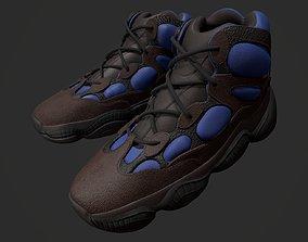 3D model YEEZY 500 High - Tyrian - Kanye West - Streetwear