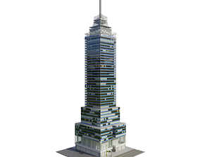 3D model Torre Latinoamericana