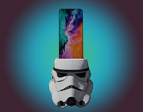 STORMTROOPER PHONE DOCK for personal use 3D print model 1
