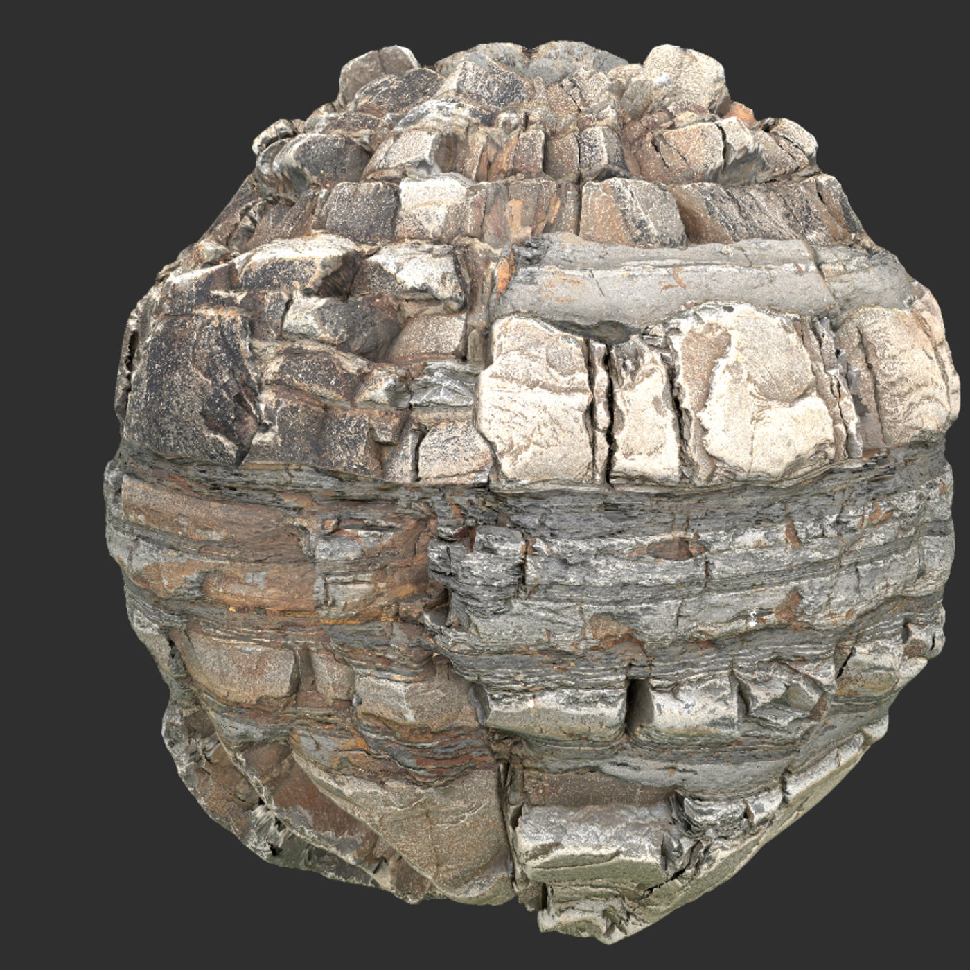 rock cliff seamless pbr texture