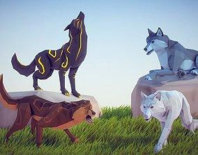 3D model Poly Art Wolf