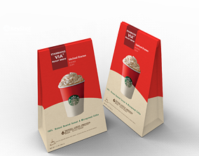 low-poly Starbucks Package Model