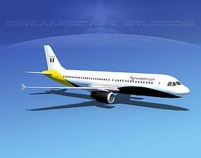 Airbus A320 LP Monarch 3D asset