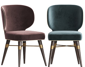 Louis Mid Century Dining Chair By Ottiu 3D